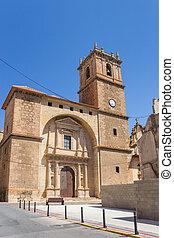 historisch, altes , zentrieren, ayora, kirche