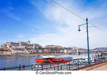 historisch, europ, ungarn, architektonisch, budapest