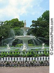 historisch, forsyth, park, fontijn