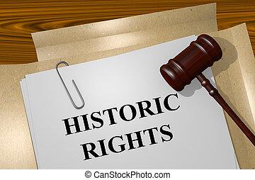historisch, rechte, begriff