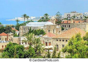 historisch, stad, van, byblos, libanon