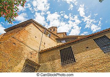 historische gebouwen, in, siena