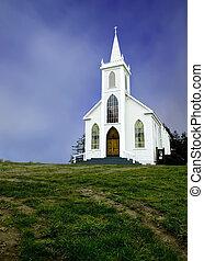historisk, gammal, kyrka