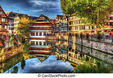 "historisk,  ""petite,  Strasbourg, område,  france"""