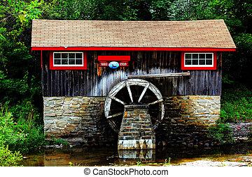 historisk, sågverk