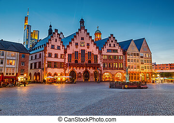 historiske, frankfurt, centrum