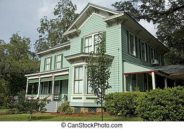 historiske, victoriansk, hjem