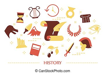 History concept. Idea of education and learning
