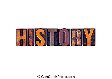 History Concept Isolated Letterpress Type