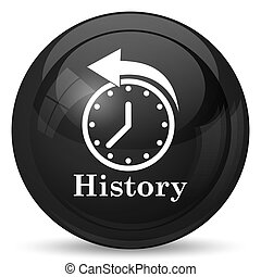 History icon. Internet button on white background.