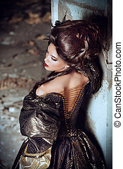 history of hairstyles - Art Fashion. Beautiful young woman...