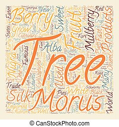 History Of Mulberry Trees Morus Alba Morus Rubrum And Morus Nigra text background wordcloud concept