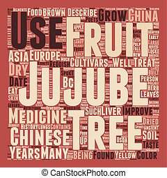 History Of The Jujube Tree text background wordcloud concept