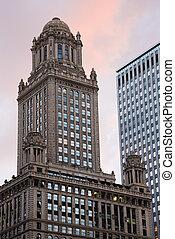 historyczna budowa, w, śródmieście, chicago