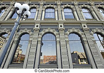 historyczna budowa, w, śródmieście, salem, oregon, 2