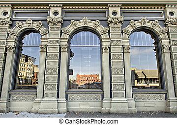 historyczna budowa, w, śródmieście, salem, oregon, 3