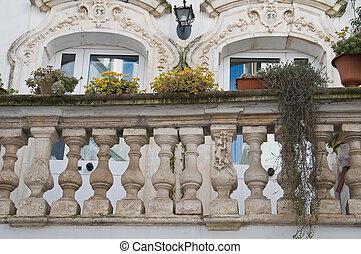 historyczny, balcony.