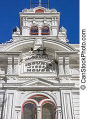 historyczny, courthouse, na, główna ulica, bridgeport