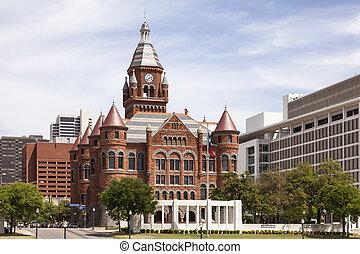 historyczny, courthouse, w, dallas, usa