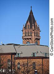 historyczny, courthouse, w, urbana