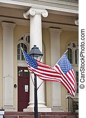 historyczny, courthouse, w, warrenton, va