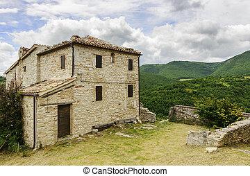 historyczny, domy, elcito