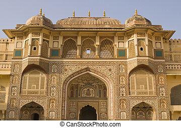 historyczny, indianin, pałac