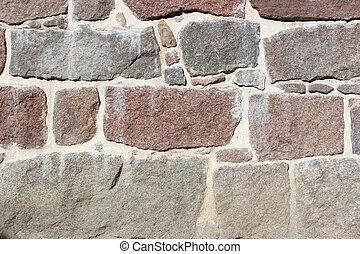 historyczny, kamień ściana