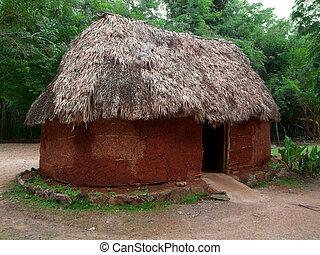 historyczny, mayan, barak