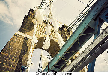 historyczny, most, w, cincinnati