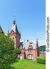 historyczny, willa, w, heidelberg., germany., europa