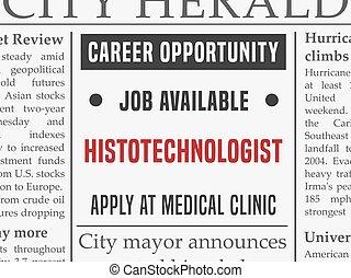 Histotechnologist career