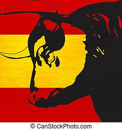 hiszpański, byk