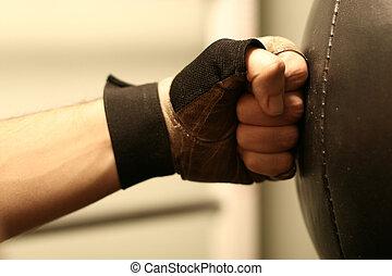 hand in glove hit punchbag