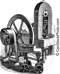 Hit machine, vintage engraving
