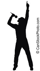 silhouette of the singer, made from my photo