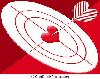 Hit target heart