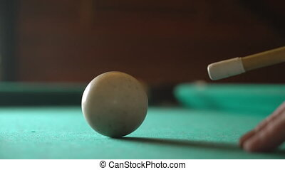 Hit the billiard ball HD video