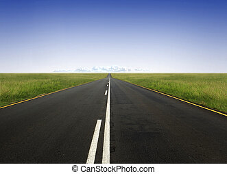 hit the road - straight road