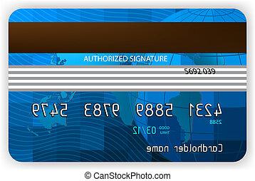 hitel kártya, hát, nézet., eps, 8