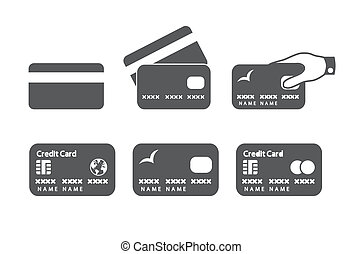 hitel, kártya, ikonok