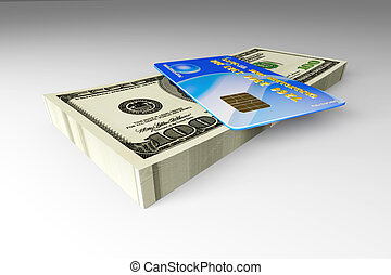 hitelkártya, és, készpénz