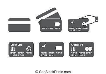 hitelkártya, ikonok