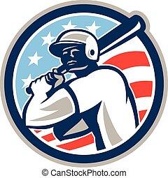 hitter, american baseball, retro, ütőjátékos, karika