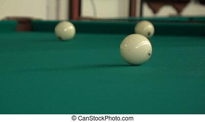 Hitting the billiard balls