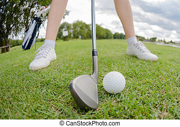 hitting the golf ball