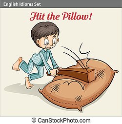 Hitting the pillow