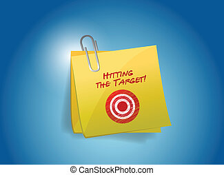 hitting the target post illustration