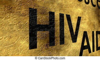 Hiv aids grunge concept