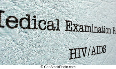 HIV AIDS medical report